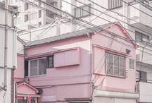 Pastel architecture