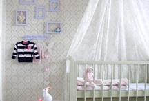 Babykamer ideeën  / Hemeltje boven bed idee
