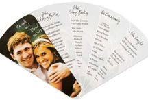 Wedding Programs / Wedding programs keep your guests informed of the day's events.