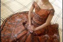 Fijian Tapa Wedding Gown
