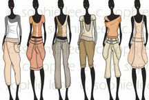 fashion sketches group C