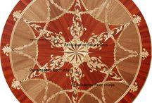 Urszula Klotz / Custom made wood floor medallions borders and panels