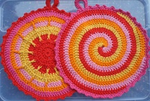 Crochet potholder & hot pads