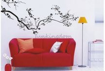 Flower (Wall Decoration) / Beautiful floral wall vinyl & PVC decals/stickers for affordable and easy home decoration.