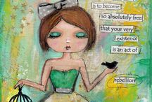 Mixed Media Art / http://www.edithgracedesigns.com