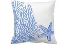Coastal Decor - Coral Designs on Pillows / When everyone has seashells in their decor, get creative with a distinctive design - coral reefs.  Visit my page of coral pillow designs at http://www.virginiaallain.hubpages.com/