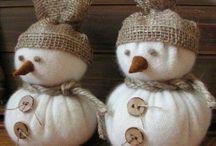 snehulaci a vanocni postavicky