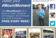 #MountMoment / Share your #mountmoment with us! Use #mountmoment with a photo on Instagram, Twitter, and Facebook. We will choose one winner to receive a prize every week!