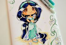 Disney princess Chibi