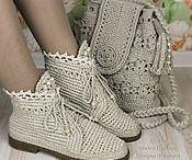 örgü dantel ayakkabılar
