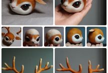 Critters in Polymer / Animal, insects, real and make-believe made in polymer clay, including tutorials. / by Amber Cartriana