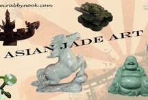 Asian Jade Sculptures at The Crabby Nook / Jade carvings from Asia.  Jade comes in many colors and are a perfect addition to your collection. / by The Crabby Nook