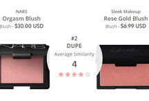 MAC Blush Dupes / Dupe Up's community suggested dupes for blush products
