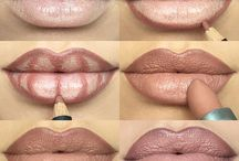 Makeup on lips
