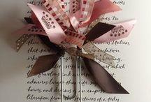 Ribbon / paperclip bookmark