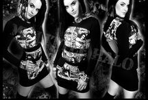 Long Sleeve Tops & Dresses / Long sleeved gothic tops and hoodie dresses-made to measure for regular and plus size