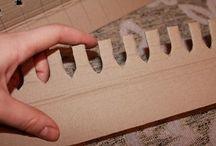 utensilio de cartón para cestas