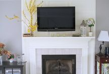 family room fireplace wall