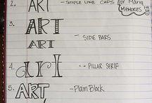 Artsy fartsy lettering