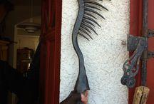 foène, fouene, eel spear, aalstecher, fiocina / collection de foènes à anguilles