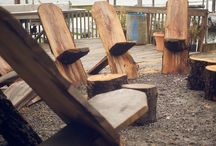 WOOD PLANK CHAIRS