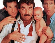 THREE MEN AND A BABY  / American remake of the French film TROIS HOMMES ET UN COUFFIN directed by Leonard Nimoy