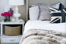 Cosy Bedrooms / Bedroom decorating ideas and cosy soft furnishings.
