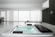 Indoor baths, whirlpools and steam cabins