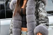 Camo Girl - parki with fur -www.furs-outlet.com