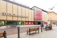 Liikkeet - Tavaratalo / Hansassa toimii alueen johtava tavaratalo Stockmann.
