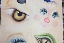 rosto e olhos