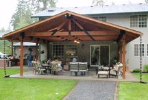 Outdoor covered deck- free standing