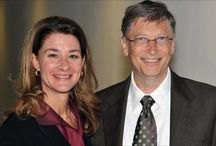 Bill Gates et  Melinda Gates / Trois enfants : Jennifer, Phoebe et Rory