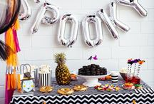 Holiday Party Ideas / Holiday party ideas on decorations, dessert table inspirations, Halloween party, Valentine Day, Christmas Holiday Party