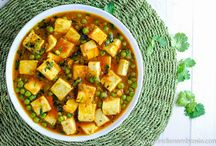 Indian Paneer Recipes / Paneer is soft Indian cottage cheese that can be cooked in a myriad delicious ways like palak/saag paneer, matar paneer, paneer jalfrezi, shahi paneer, paneer bhurji ... the list is endless. Follow this board to learn how to make paneer from scratch and for easy, step by step Indian paneer recipes!