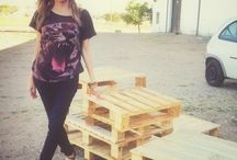 DIY with Pallet - muebles de palét / Decorando espacios con #palé #Craft #diy #pallet #Deco
