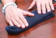 skládání ponožek