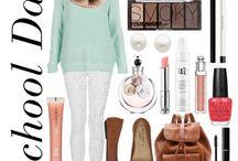 skolinspo (outfits,smink,väskor mm)