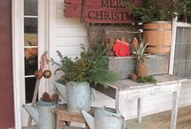 Front Porch Sit'n / Decorations for the front porch!