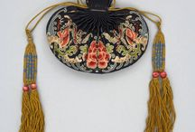Embroidered +beaded bags