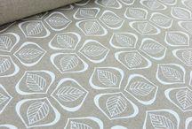 Hand printing fabrics