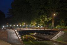 Bridge with LED / LUMIGRIP® LED systemen zijn voor binnen en buiten geschikt. Bijvoorbeeld in een brug of buiten leuning.