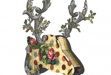 Miho Wall Art - Deer Heads and Key Boxes