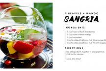 Sip, Sip, Hooray! / Fruit Wine Cocktail recipes to try with California Fruit Wine