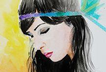 Watercolor Portrait / Retratos en Acuarela