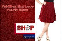 Flared Skirt / Check Latest Shirts Price and Reviews at India's favorite Online Shopping Site.