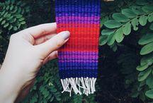 tkanye - weaving & embroidery / Woven tapestries made by me. https://www.instagram.com/_tkanye_/