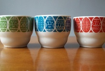 arabia vintage egg cups / arabia vintage egg cups