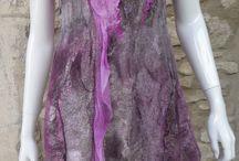 kjoler i filt og silke