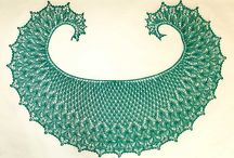 Amazing Knitted Lace Crescent Shawls